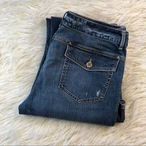 Banana Republic Distressed Bootcut Jeans